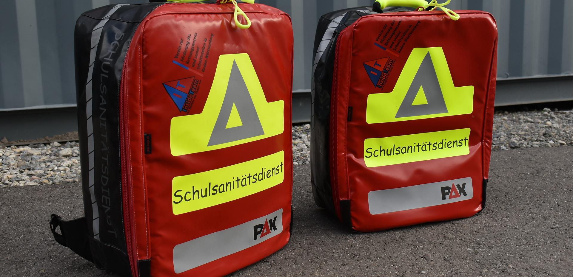 Schulsanitätsdienst-Rucksäcke