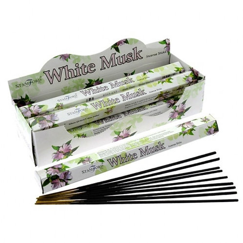 1 CASE (6 PACKETS) of STAMFORD White Musk Premium Incense