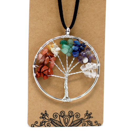 Chakra Tree of Life Necklace - Large