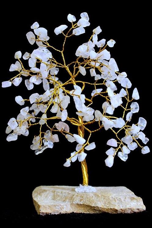 Rose Quartz Gemstone Crystal Tree - 160 Stone