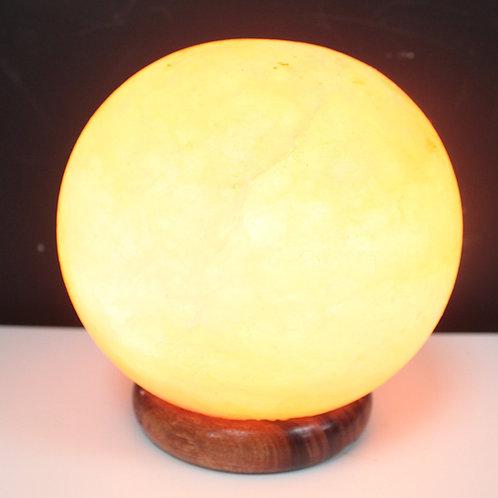 Salt Lamp Ball - Big Wooden Base