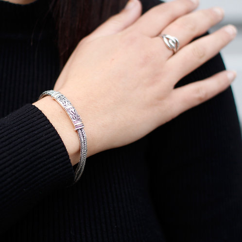 Silver & Gold Bracelet - Unisex Twin Chain
