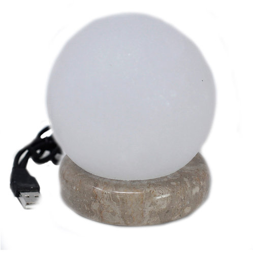 Quality USB Ball WHITE Salt Lamp - 9 cm (multicoloured)