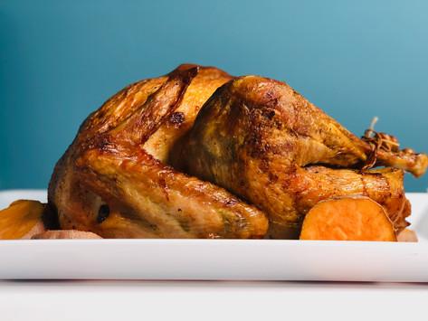 Roasted Turkey with Cornbread Stuffing, Gravy and Orange Cranberry Sauce