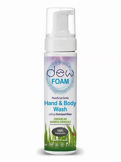 DEW HAND & BODY WASH 200ml Foam utilising Electrolysed Water