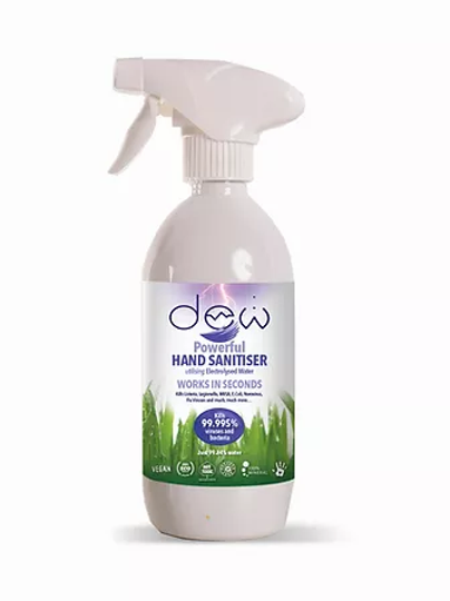 DEW HAND SANITISER 500ml Spray utilising Electrolysed Water