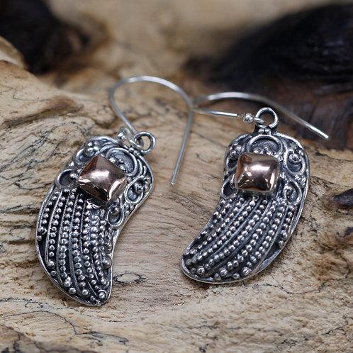 Silver & Gold Earring - Angel Wings