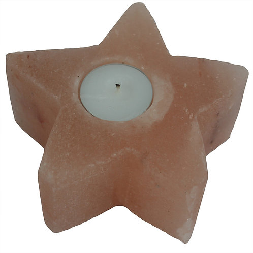 STAR Shaped Pink Himalayan Salt Tea Light Candle Holder