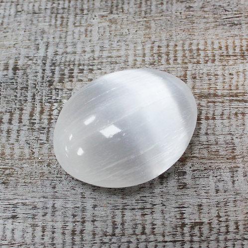 Selenite Palm Stone - 8 cm