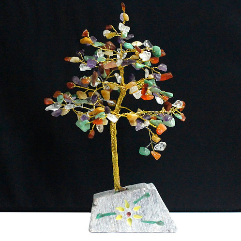 Multi-Gemstone Crystal Tree - 160 Stone