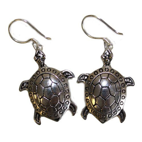 Silver Earrings - Turtles