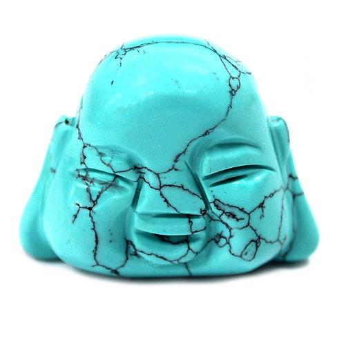 Gemstone Buddha Head - Turquoise