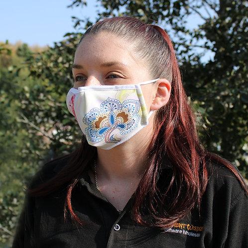 Reusable Fashion Face Covering - Mandala Parrot (Adult)