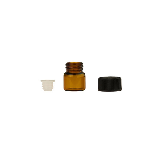 1 ml (1/4 Dram) Amber Glass Sample Vials