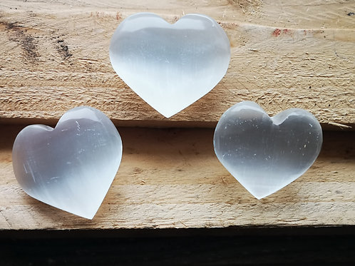 Cute Selenite Heart for gift as a thankyou to someone 3.5cm