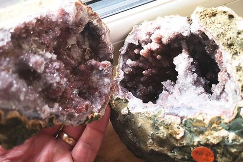 Spirit Cactus Faerie Angel Quartz Stalactite Geode (149x127x116mm)