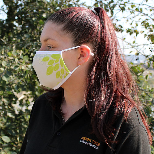 Reusable Fashion Face Covering - Green Leaves (Adult)