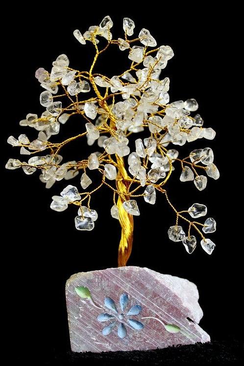 Rock Crystal Gemstone Tree - 160 Stone