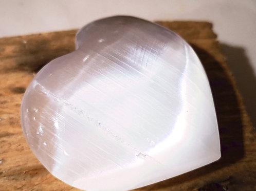 SELENITE PUFFED HEART - Large (