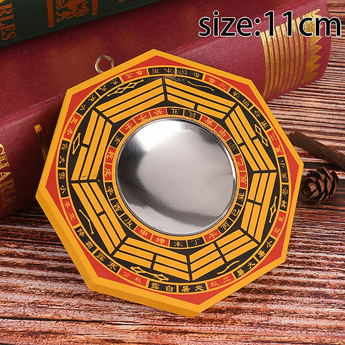 BAGUA MIRROR CONVEX good luck & fortune, ancient chinese protect, 11 X 11 black