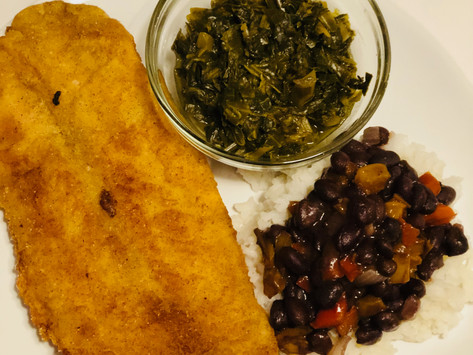 Daddy Freddy's Catfish with Black Beans & Rice