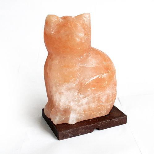Cat Figure Shape High Quality Pink Himalayan Salt Lamp