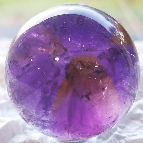 Ametrine sphere (Amethyst & Citrine) Grade A - Bolivia 88g (40mm)