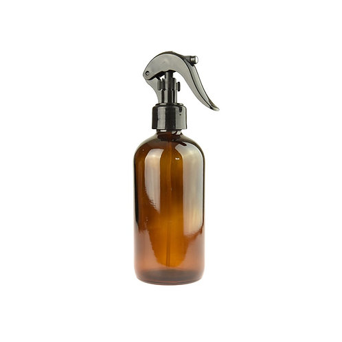 125ml AMBER Glass Bottle with Black Spray Trigger (x1)
