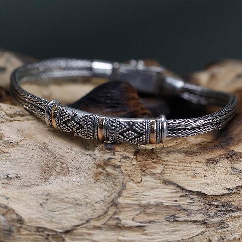Silver & Gold Bracelet - Unisex Single Chain