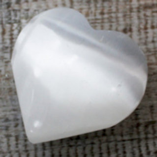 Selenite Heart for gift as a thankyou to someone 5-6cm