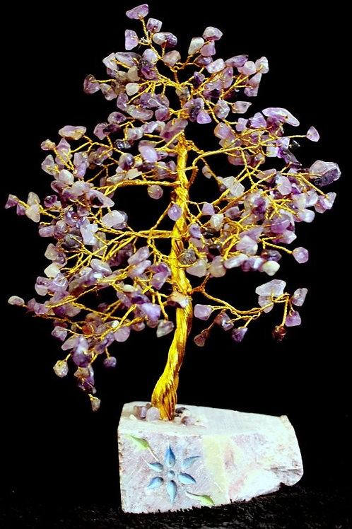 Amethyst Gemstone Crystal Tree - 320 Stone