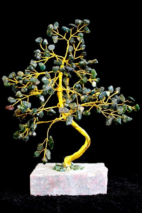 Moss Agate Gemstone Crystal Tree - 160 Stone