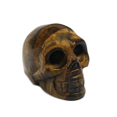 Gemstone Skull - Tiger Eye