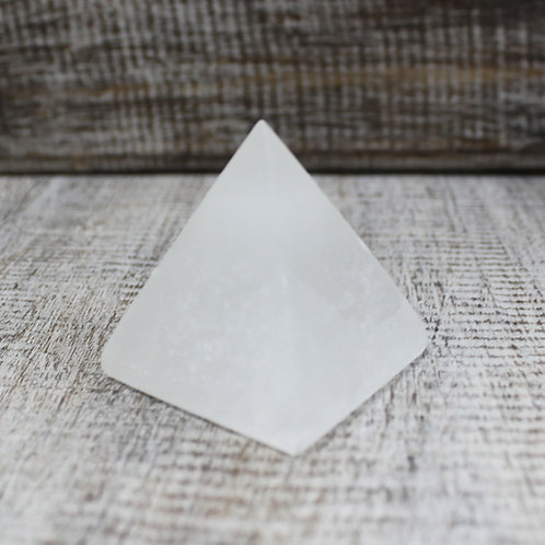 STUNNING Selenite Pyramid - 5 cm GRADE A