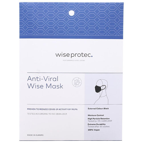 Wise Protec Anti-Viral Wise Mask (Black)