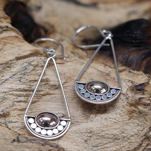 Silver & Gold Earring - Luna Balance