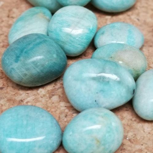 Amazonite  - Tumble Stones (HIGH GRADED GEM STONES) 20-24mm