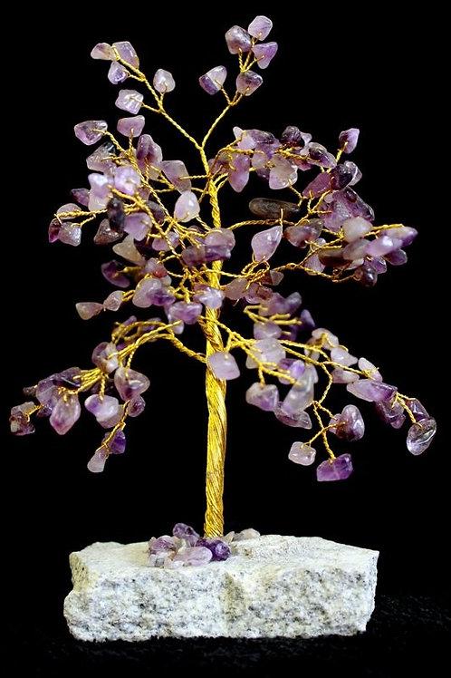 Amethyst Gemstone Crystal Tree - 160 Stone