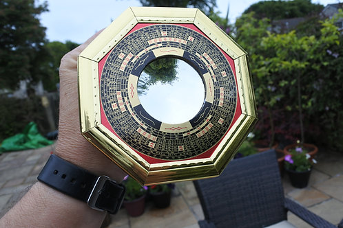BAGUA MIRROR CONCAVE good luck & good fortune, Feng Shui 125 x 125mm