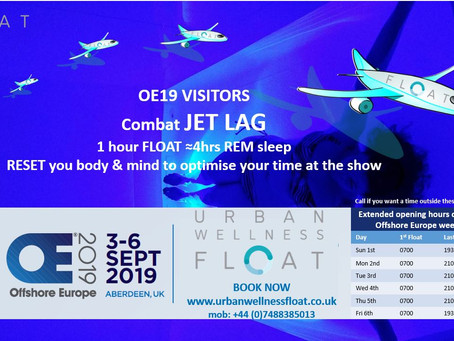Combat Jet Lag - Offshore Europe Visitors