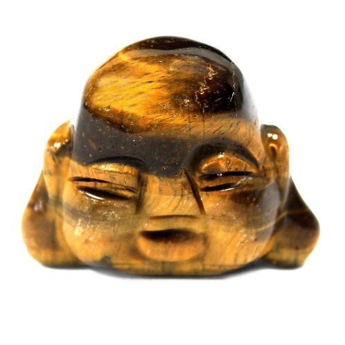 Gemstone Buddha Head - Tiger Eye