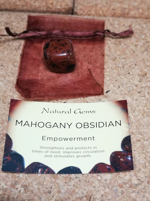 Mahogany Obsidian with Info card & gift bag