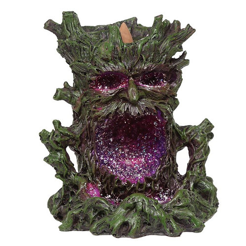 Crystal Green Man LED Backflow Incense Burner