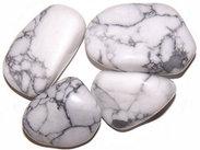 WHITE Howlite - Large Tumble Stones