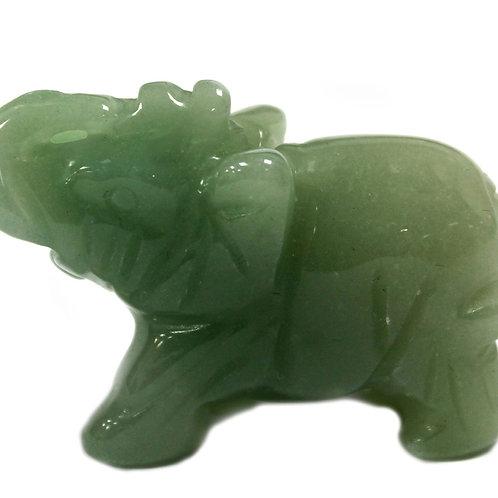 Gemstone Elephant - Jade