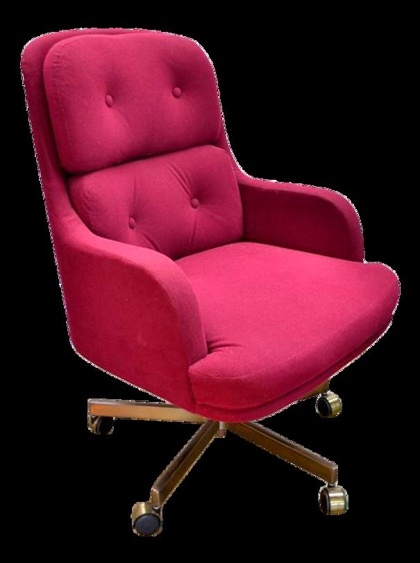 Remarkable 1960S Mid Century Modern Burgundy Desk Chair Machost Co Dining Chair Design Ideas Machostcouk