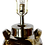 Thumbnail: 1960s Mid-Century Modern Bitossi Silver Ceramic Lamp