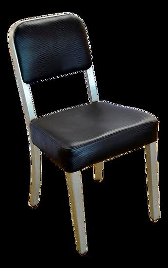 1950s Mid-Century Modern Aluminum Arm Less Goodform Office Side Chair