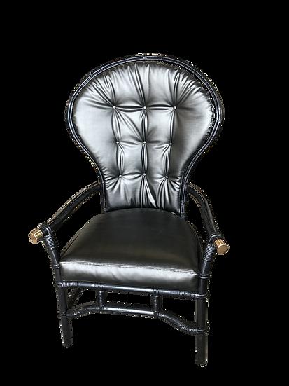 1960s Vintage Ficks Reed Rattan Fan Chair