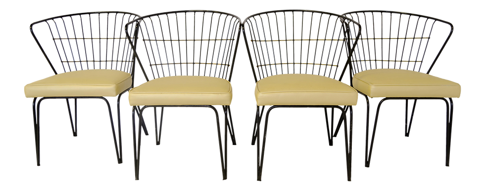 Salterini Style Metal Patio Chairs - Set of 4